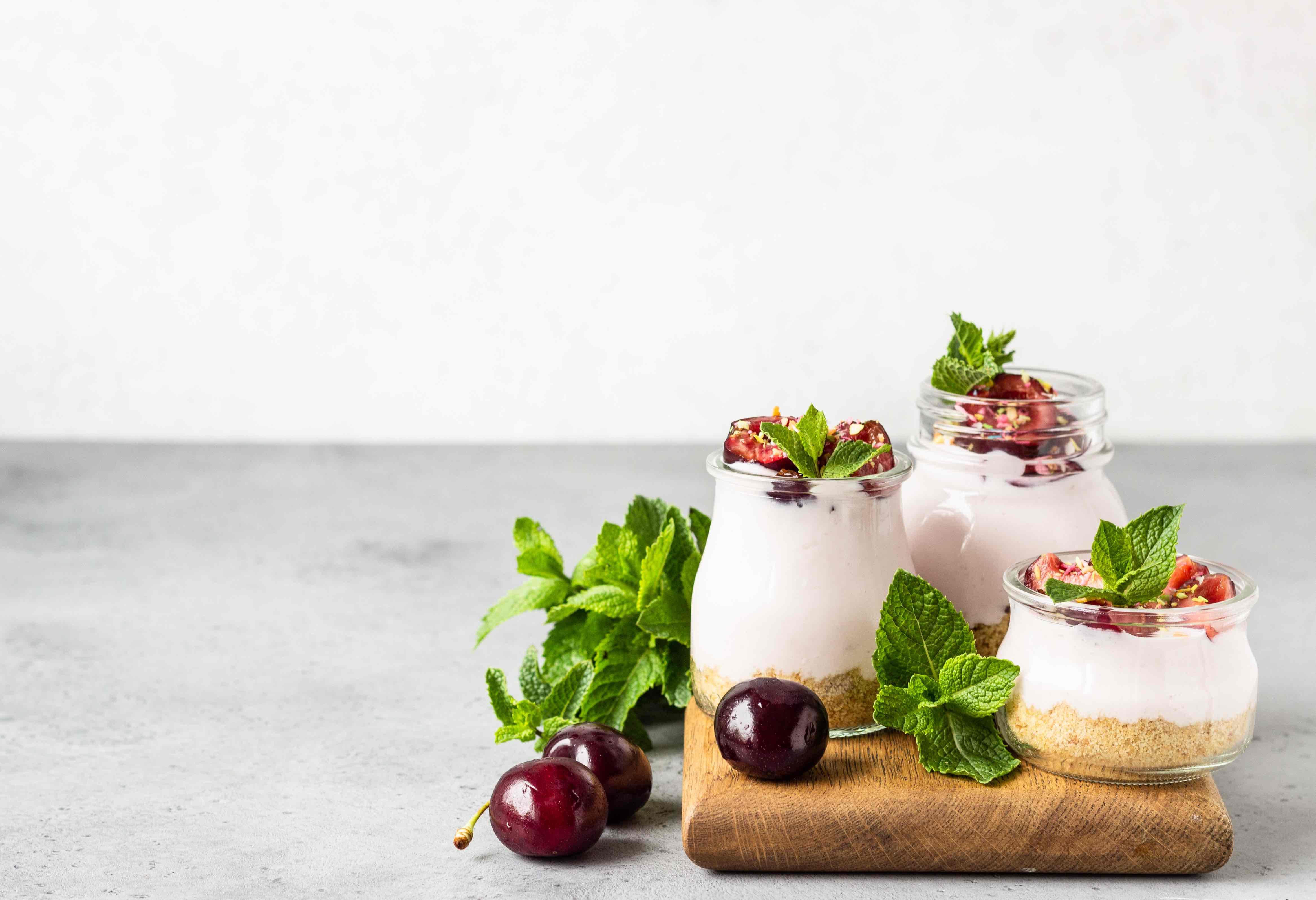 Domácí jogurtový dezert