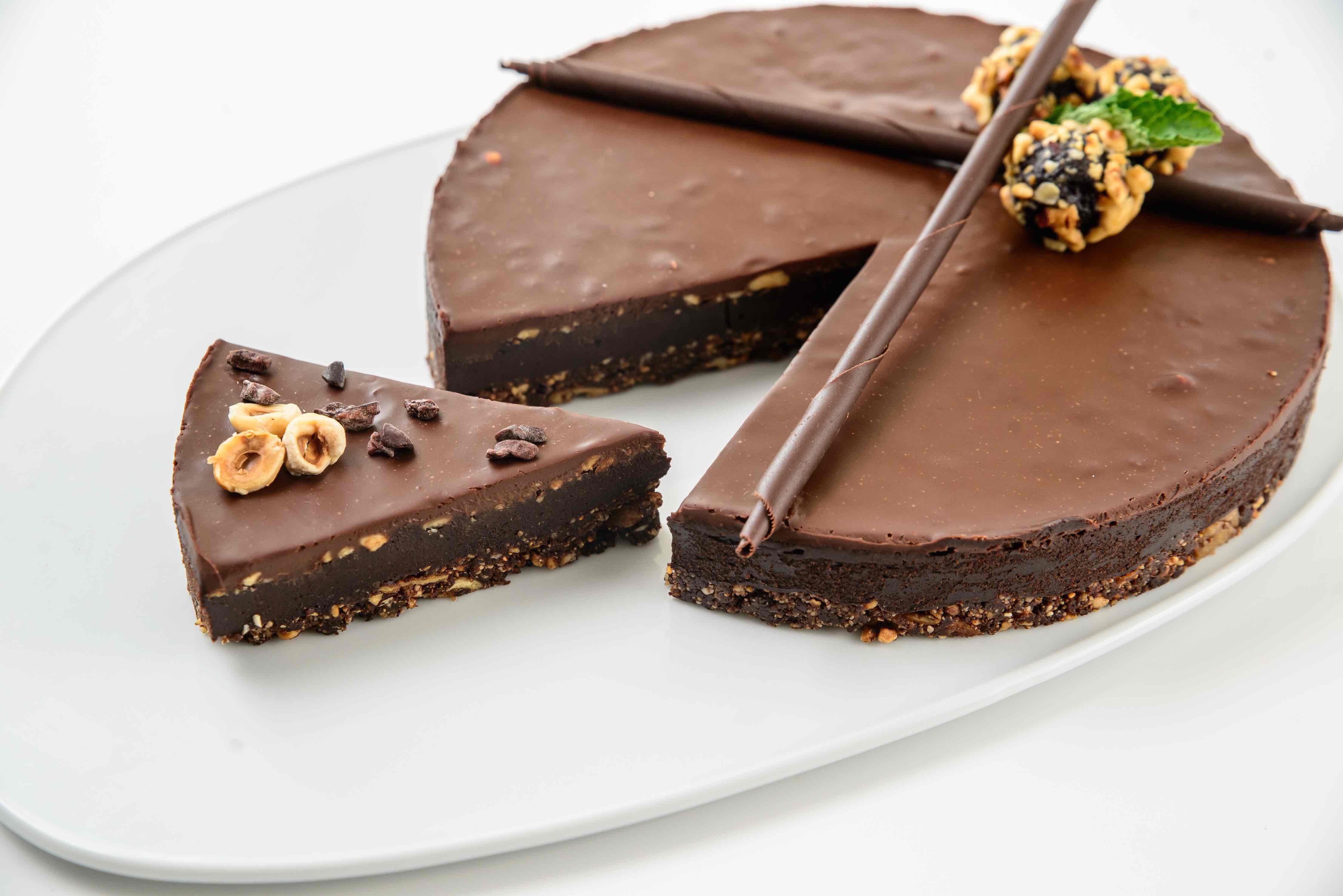 Lískooříškový cheesecake s čokoládou