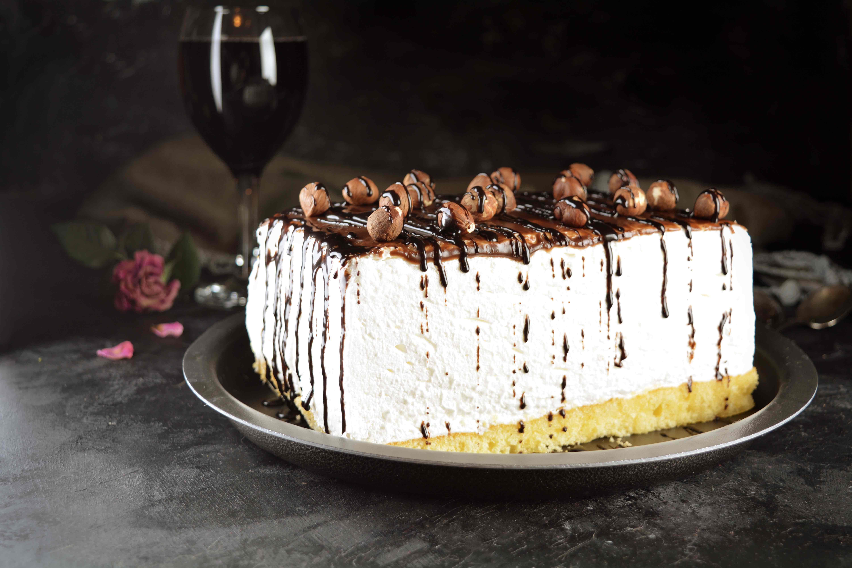 Piškotový dezert s tvarohovým krémem