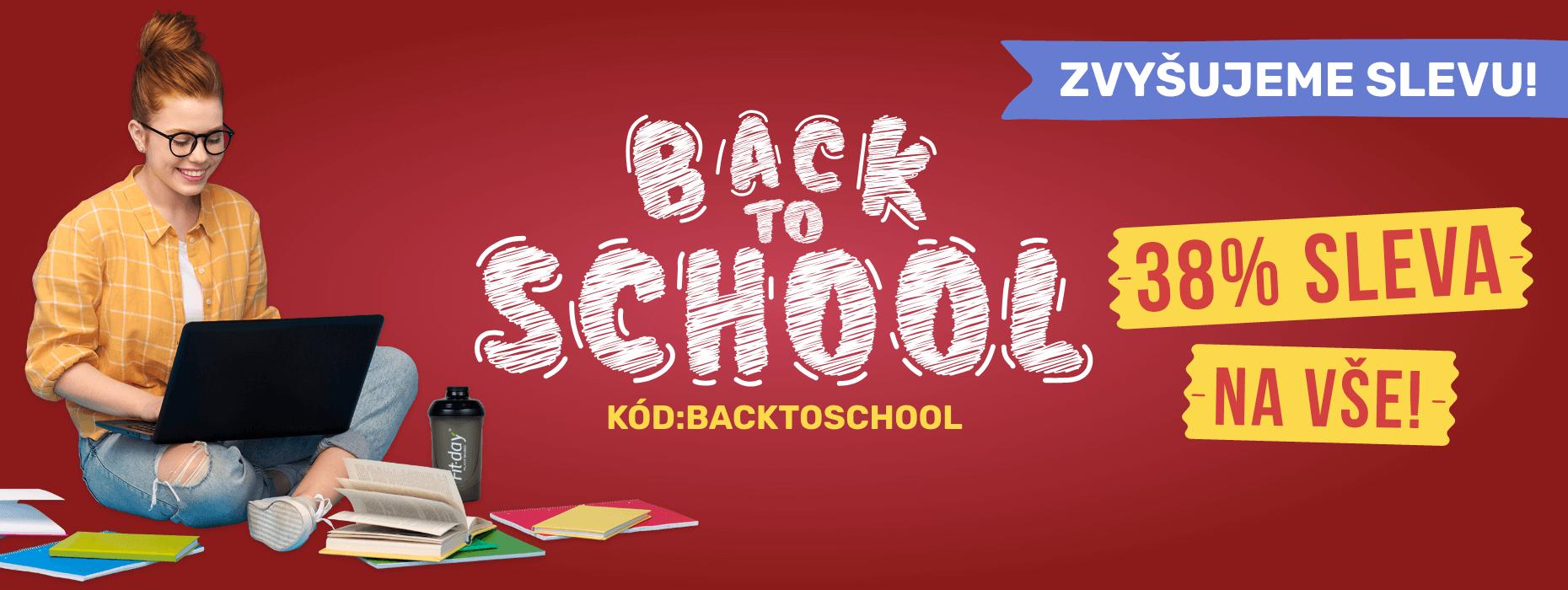 Navyšujeme slevu Back to school. Právě teď akce -38 %.