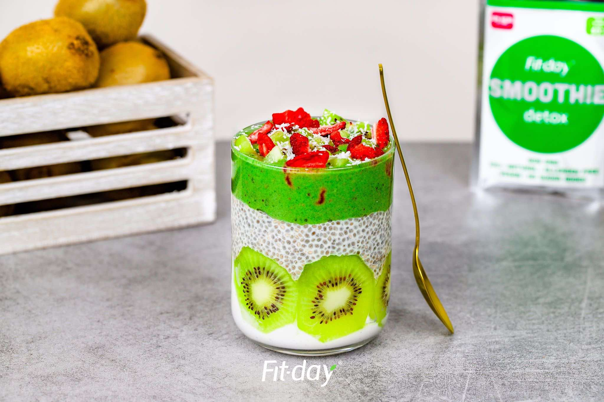 Fit-day kiwi-chia pudink