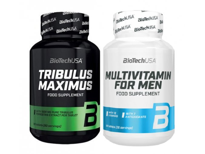 BioTechUSA Multivitamin for Men - 60 tablet + tribulus Maximus - zlepšení hladiny testosteronu