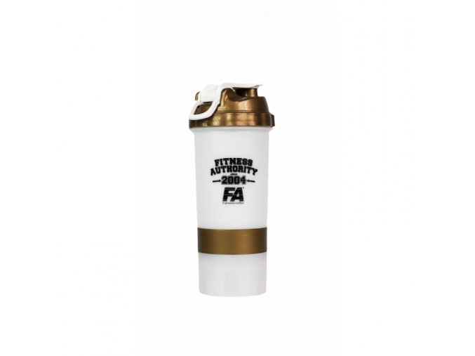 Fitness Authority Smart Shaker White-Gold - 500 ml - Shaker na rozmíchaní proteinů