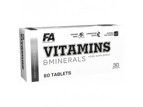 Fitness Authority Vitamins & Minerals - 60 tablet - Multivitamín