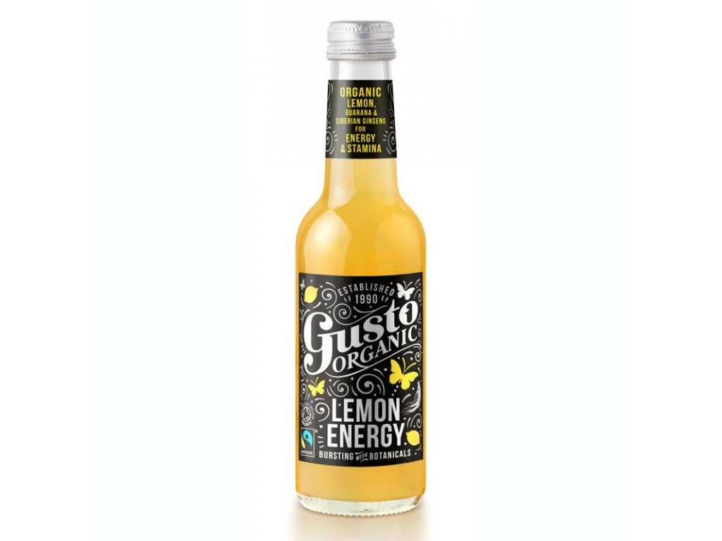 Gusto Organic Gusto Organic Lemon Energy 250ml
