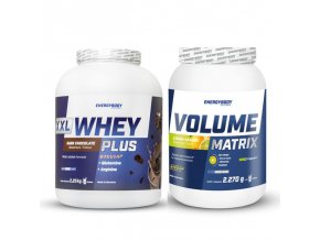 EnergyBody XXL Whey Plus Protein 2,25 kg + Volume Matrix 2,27 kg pomeranč-citron