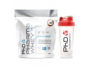 PhD Nutrition Pharma Whey HT+ 908 g + Šejkr PhD 700 ml ZDARMA