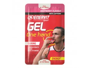 Enervit Gel One Hand s kofeinem 12,5ml malina