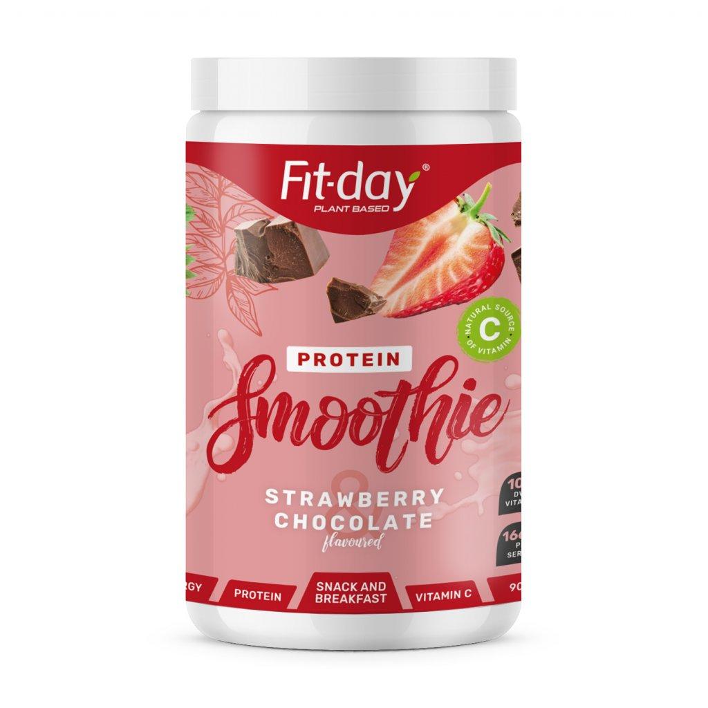 smoothie strawberry chocolate