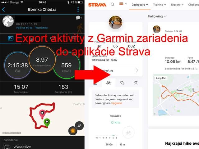 Výpadok Garmin Connect - ako nahrať aktivitu do aplikácie Strava