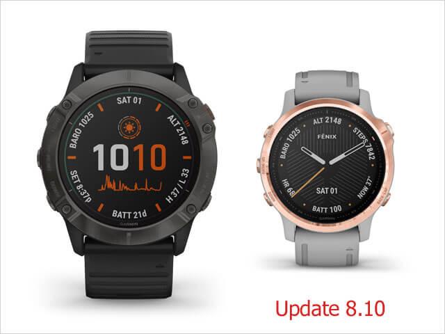 Garmin Fénix 6 nová aktualizácia 8.10 (Marec 2020)