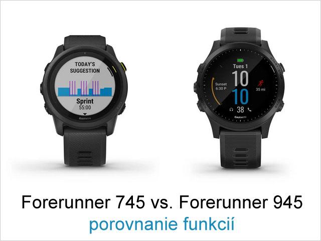 Garmin Forerunner 745 vs. Forerunner 945 - porovnanie funkcií