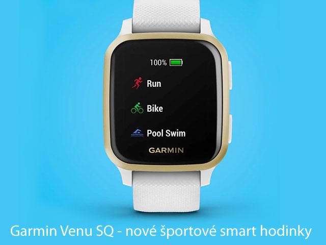 Garmin Venu SQ - nové športové smart hodinky