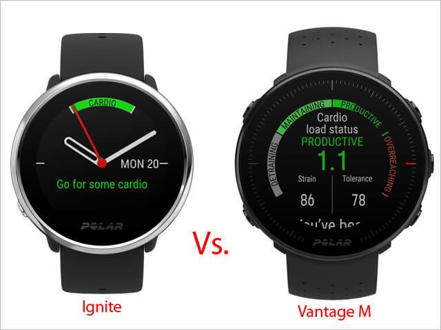 Polar Vantage M vs. Polar Ignite (porovnanie modelov)