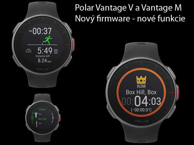 Polar Vantage V a Vantage M - najnovšia aktualizácia 5.0.10