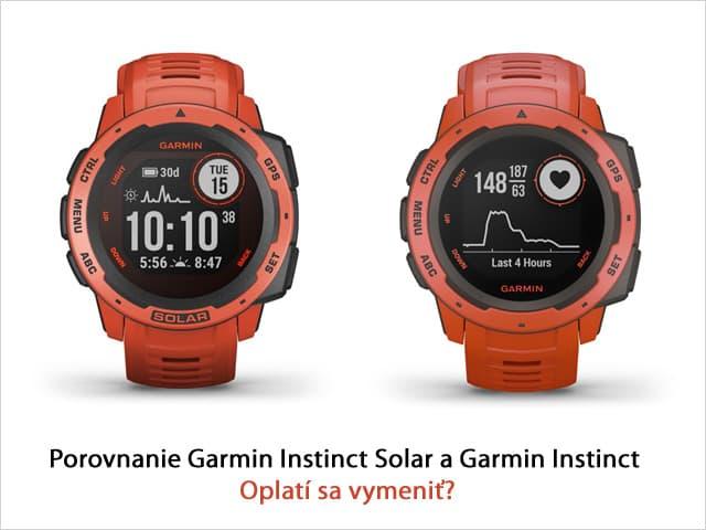 Garmin Instinct vs. Garmin Instinct Solar - oplatí sa vymeniť?