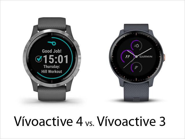 Garmin Vívoactive 4 vs Vívoactive 3 – porovnanie modelov
