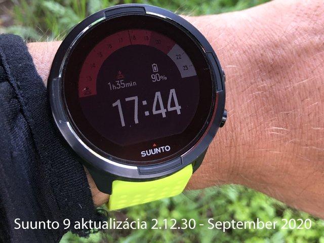Suunto 9 aktualizácia 2.12.30 - September 2020