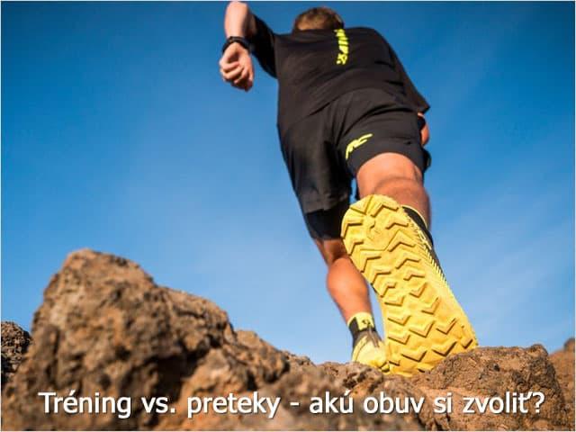 Tréningová vs. preteková bežecká obuv