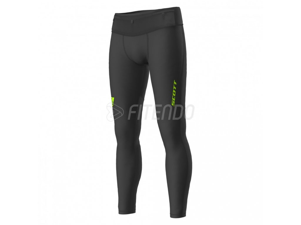 2701661040 scott panske elastické nohavice RC Run Black Yellow 01