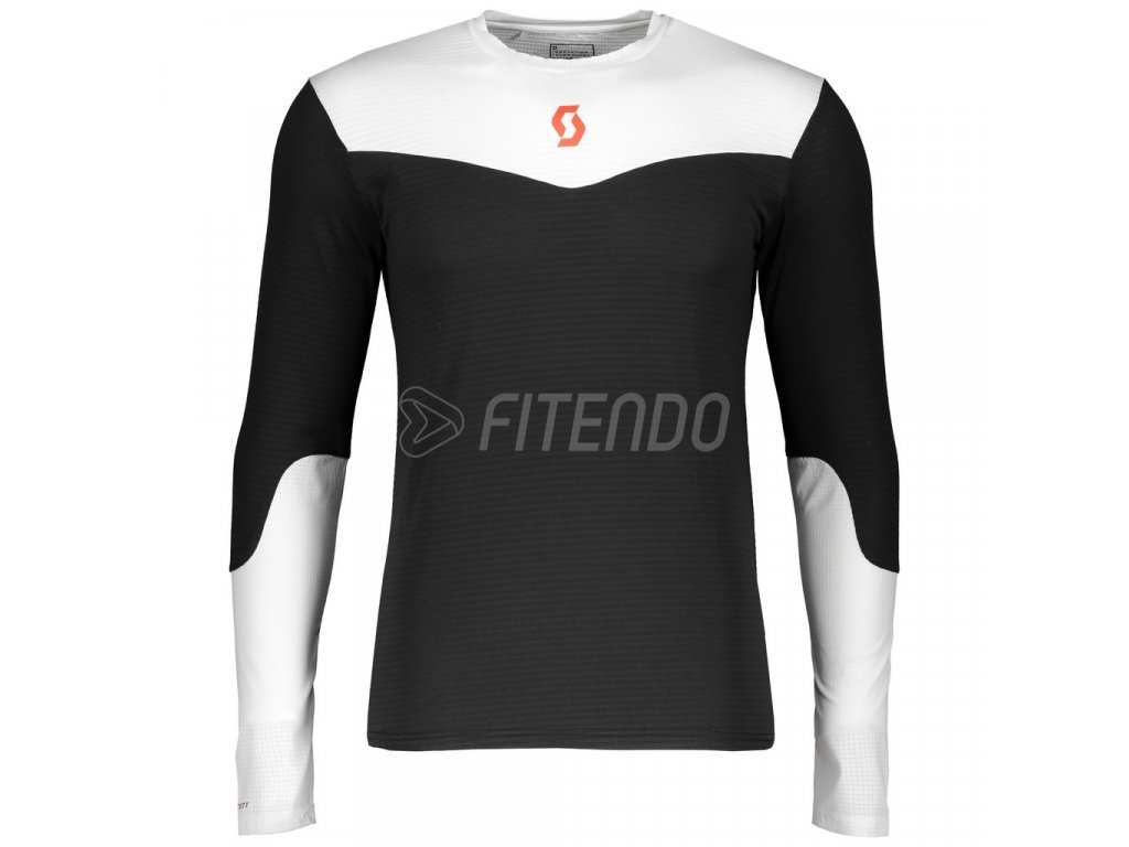 01 Scott Shirt Men Kinabalu Run black white long 270169