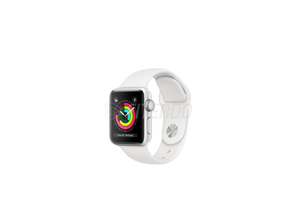 Apple Watch Series 3 38mm Silver Aluminium White Sport Band