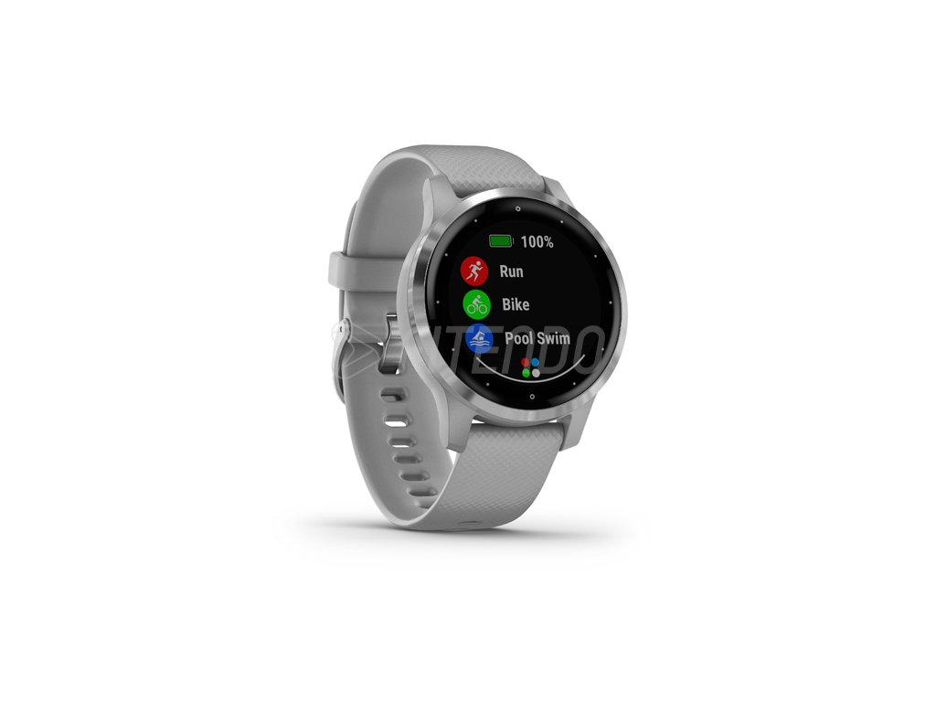 garmin vivoactive 4S powder gray silver 01