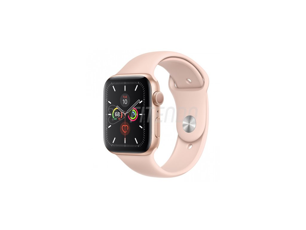 Apple Watch Series 5 44mm Gold Aluminium Pink Sand Sport Band 01