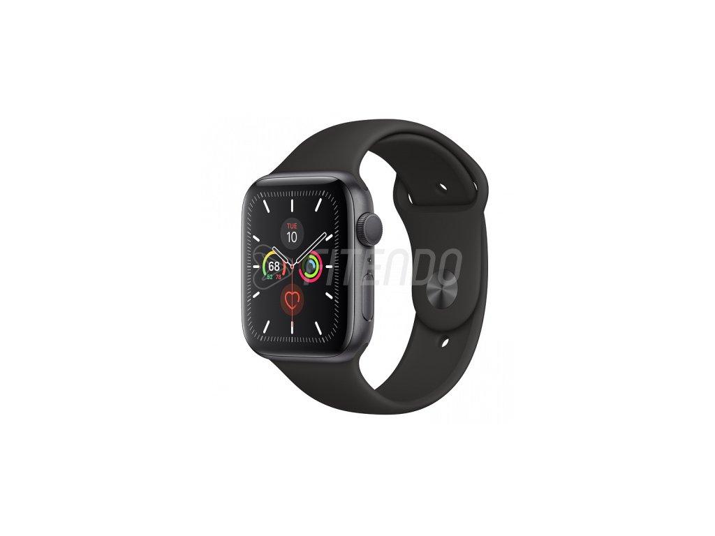 Apple Watch Series 5 44mm Space Grey Aluminium Black Sport Band 01