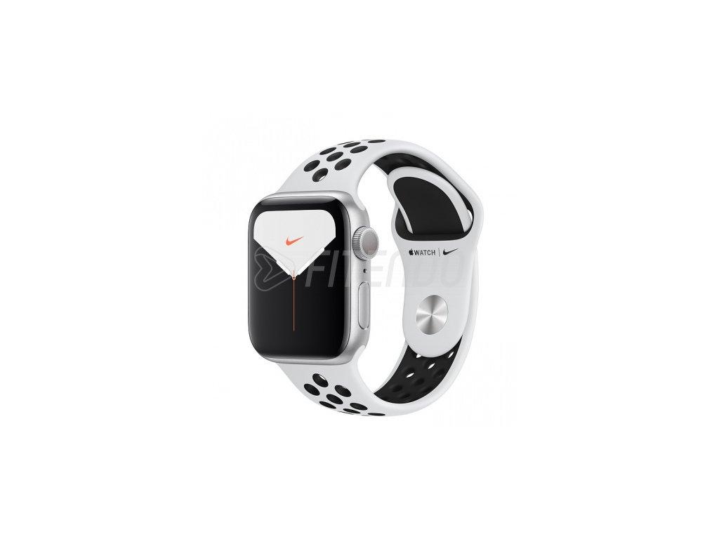 Apple Watch Nike Series 5 44mm Silver Aluminium Pure Platinum Black Nike Sport Band 01