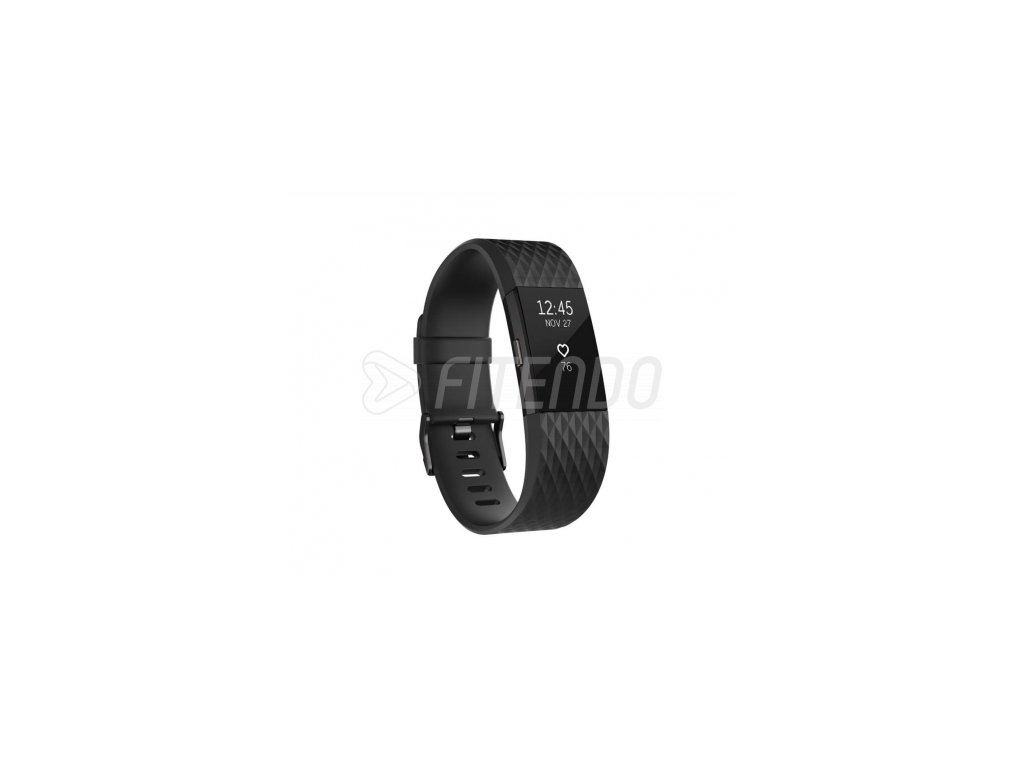 Fitbit Charge 2 Black Gunmetal - Large