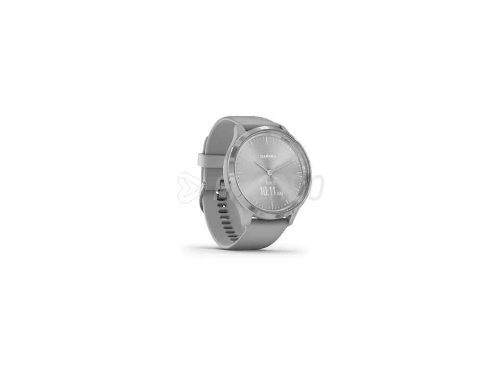 garmin vivomove 3 powder gray silver silicone 01