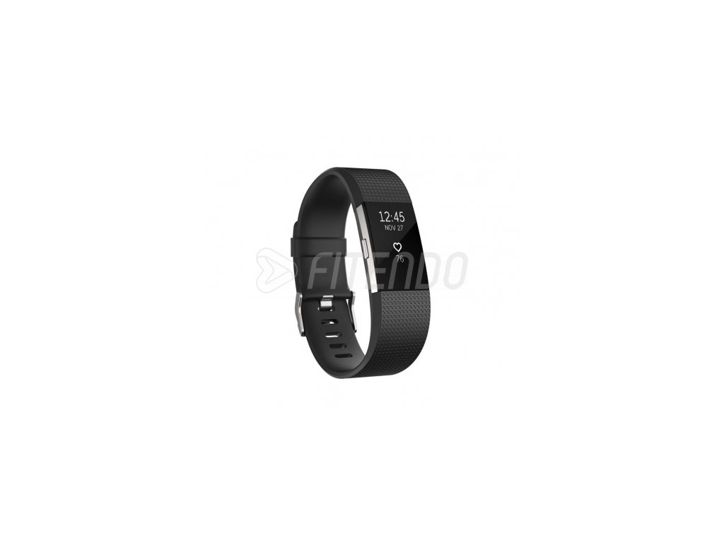 Fitbit Charge 2 Black Silver - Large
