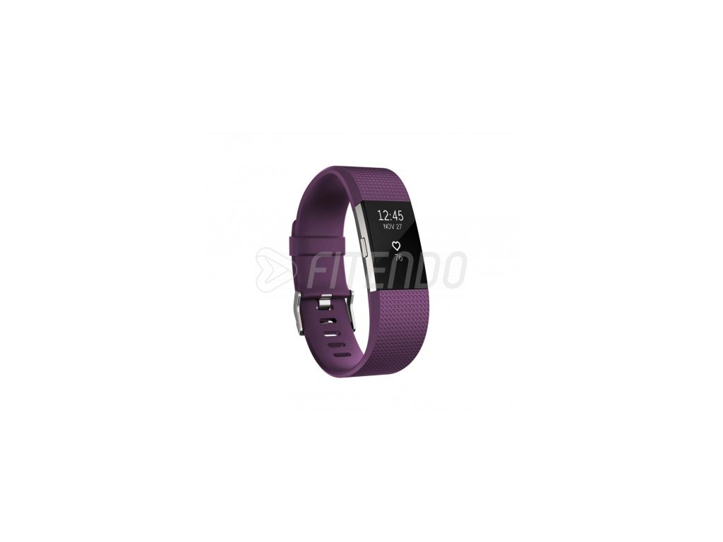 Fitbit Charge 2 Plum Silver - Large