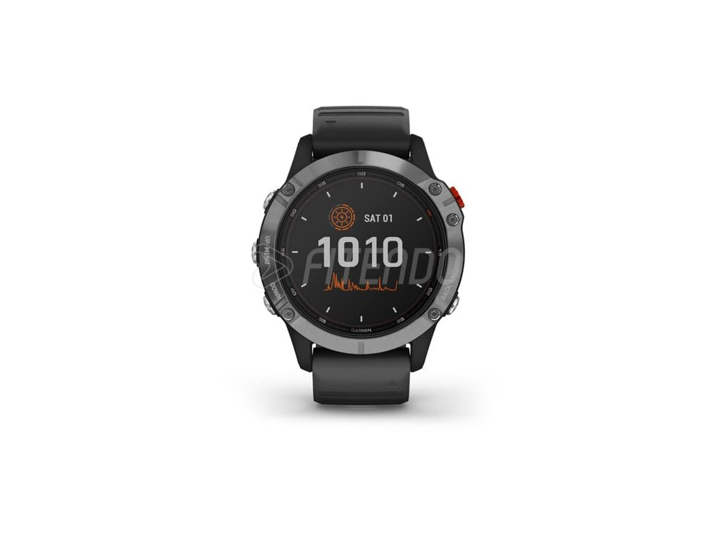 garmin fenix 6 solar silver black band 01