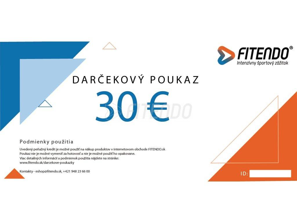 darcekovy poukaz v hodnote 30 eur fitendo sk