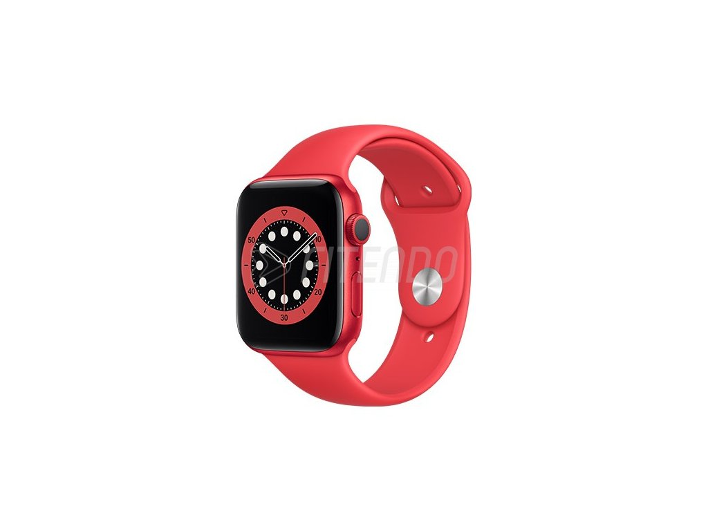 apple watch series 6 gps 44mm product red aluminium case with product red sport band regular i107403