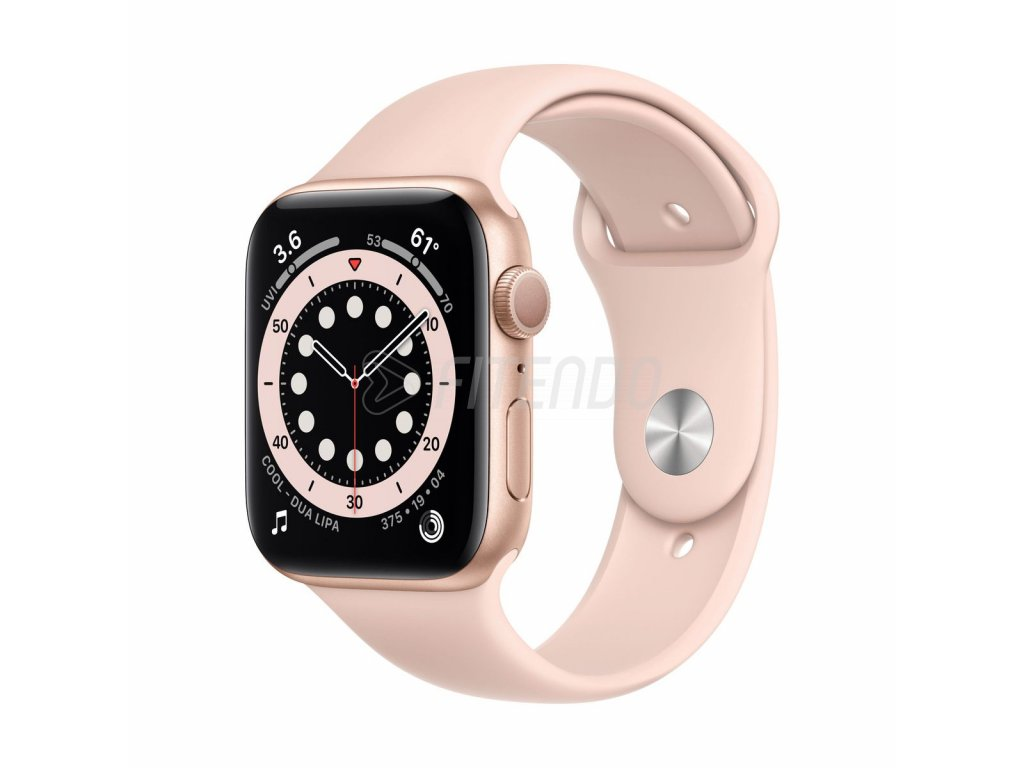 apple watch series 6 gps 44mm gold aluminium case pink sand sport band 01