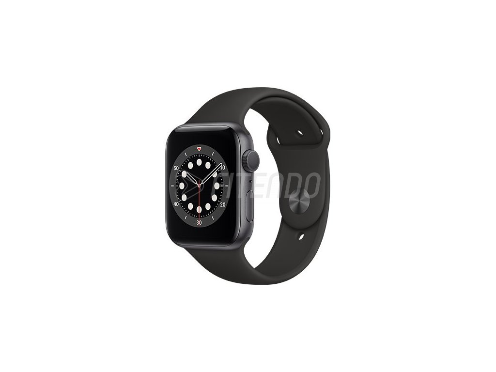Apple Watch Series 6 GPS 44mm Space Gray Aluminium Case with Black Sport Band 01