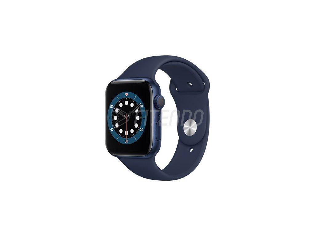 apple watch series 6 gps 44mm blue aluminium case with deep navy sport band regular i107401