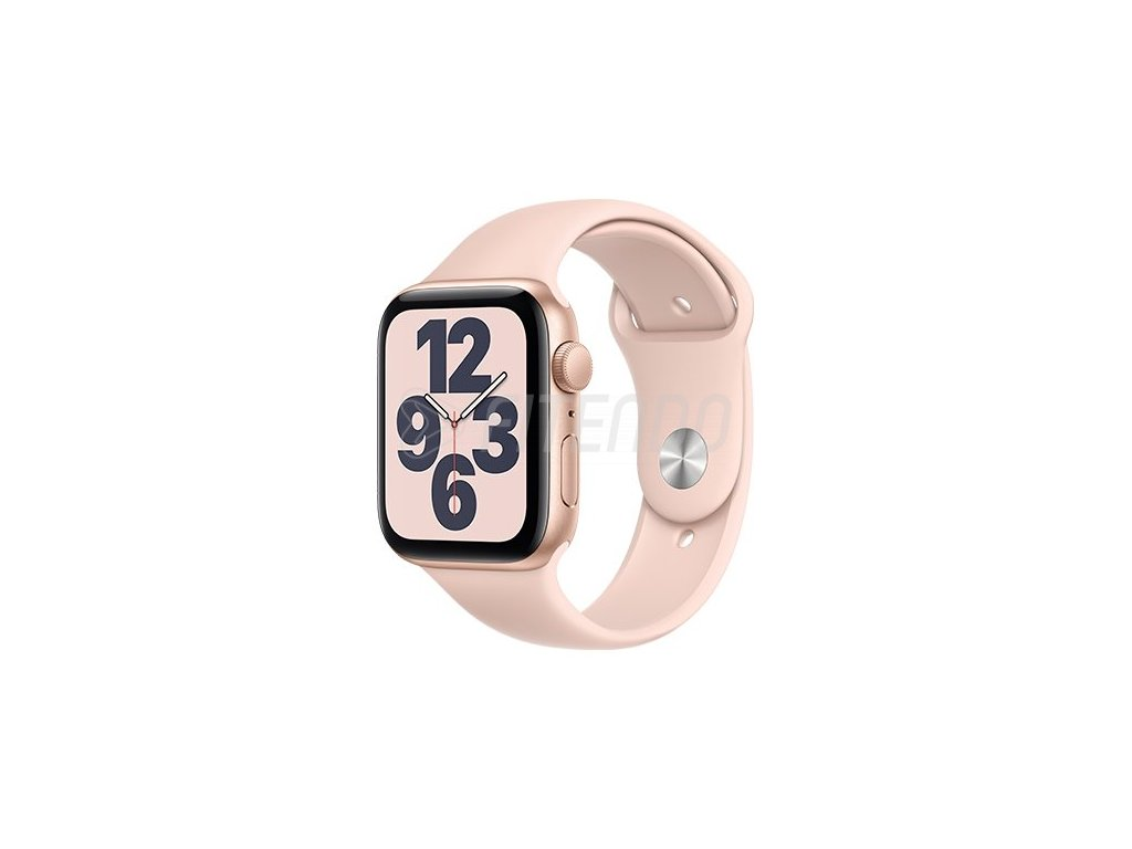 apple watch se gps 44 mm gold aluminium case with pink sand sport band regular i107427