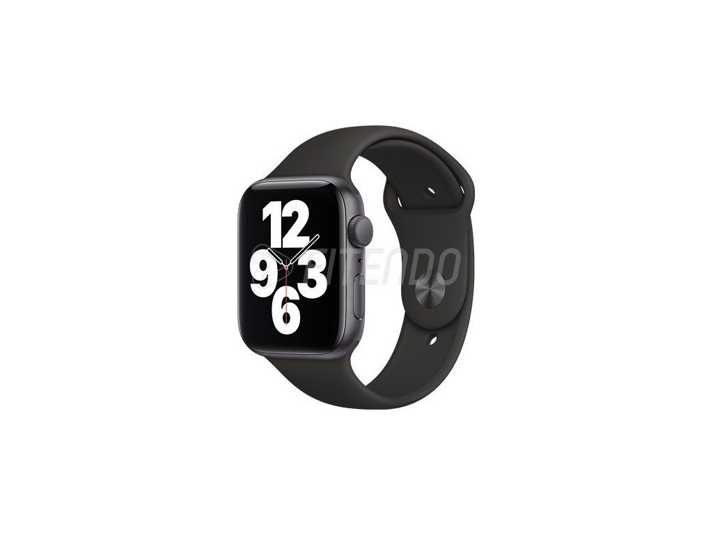 apple watch se gps 44 mm space gray aluminium case black sport band 01