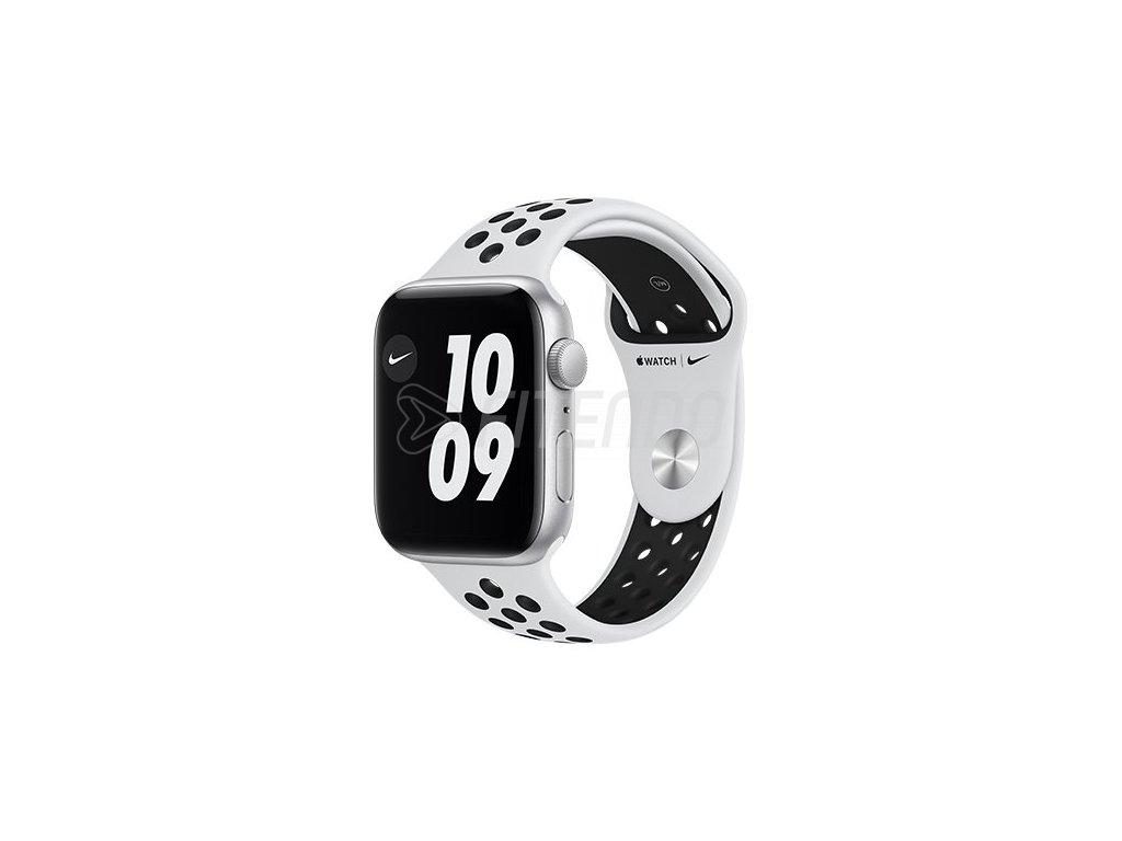 apple watch nike se gps 40 mm silver aluminium case with pure platinum black nike se sport band regular i107419