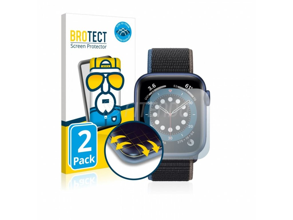 brotect flex full cover ochranna folia apple watch series 6 44 mm 01