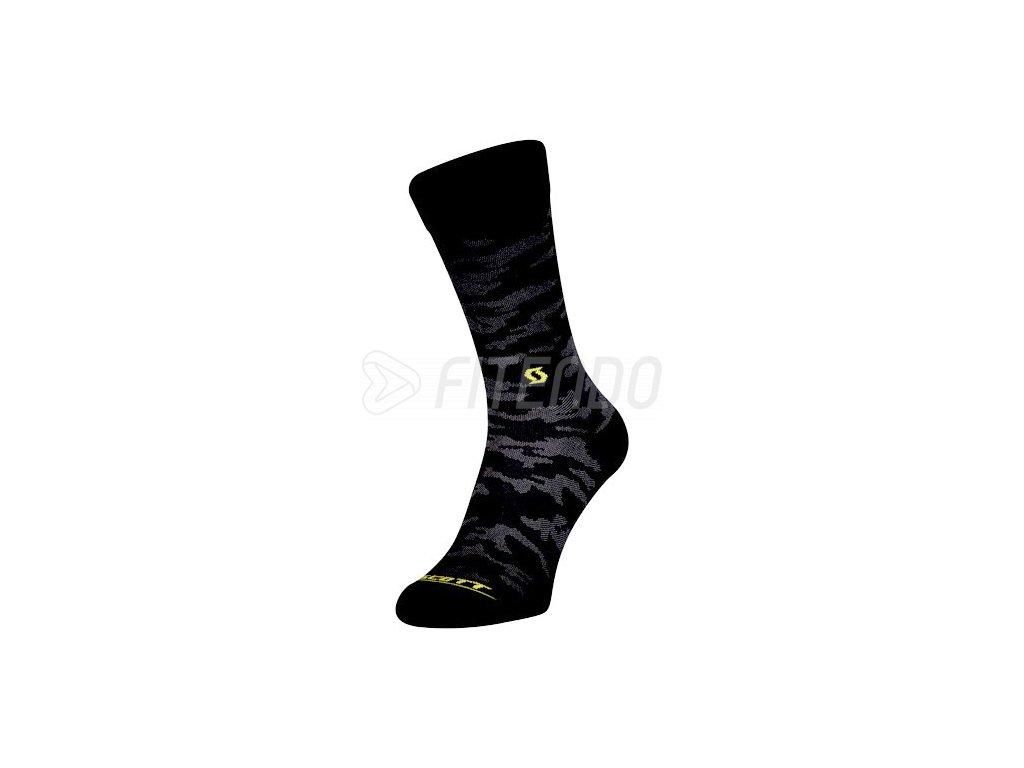 ponozky scott trail camo crew black sulphur yellow