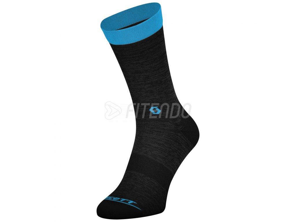 Scott ponožky Trail Crew Dark grey / Blue