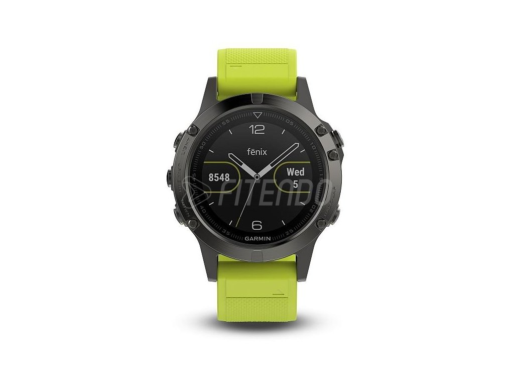 Garmin fénix 5 Slate gray, Yellow band