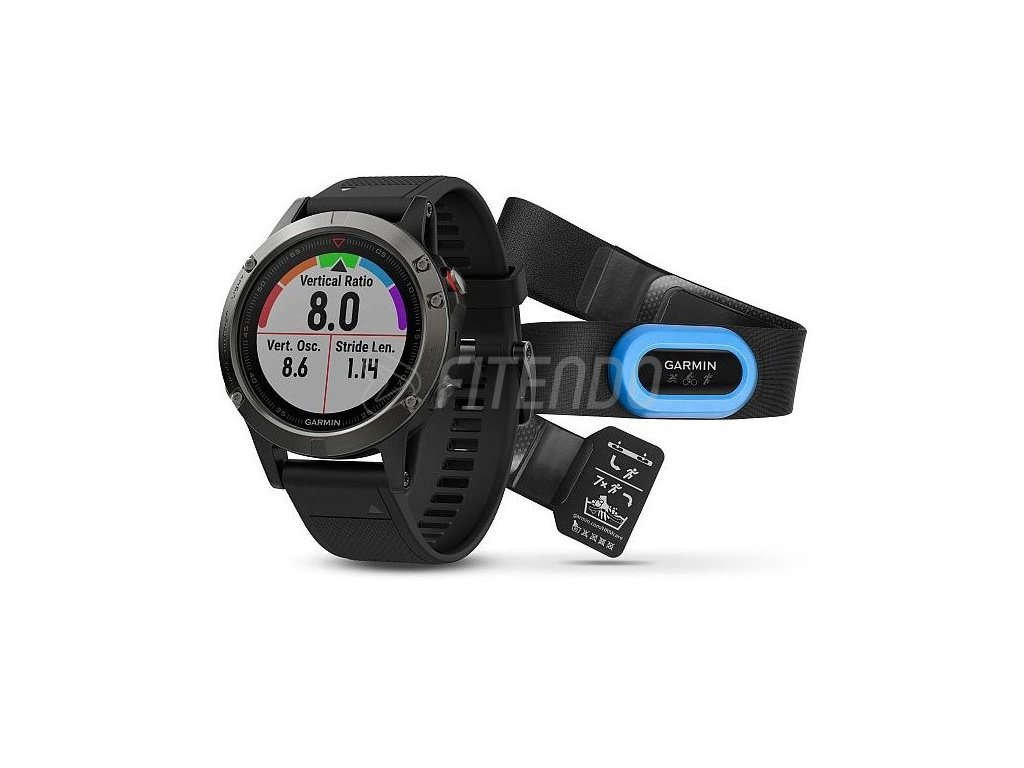Garmin fénix 5 Slate gray, Performer bundle