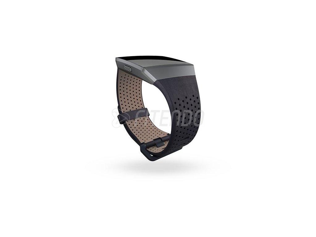Fitbit Ionic kožený remienok Midnight Blue - L