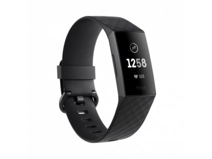 01 Fitbit Charge 3 - Graphite / Black